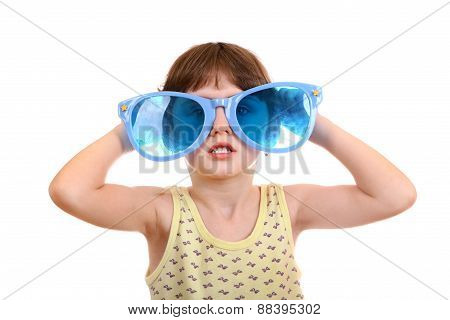 Little Girl In The Big Glasses