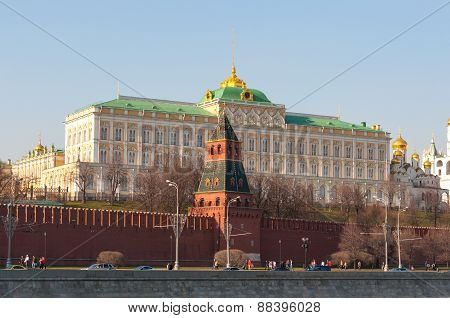 Senate building at Moscow Kremlin, official residence of  President Russia