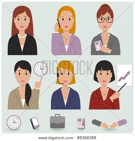 Business women icons