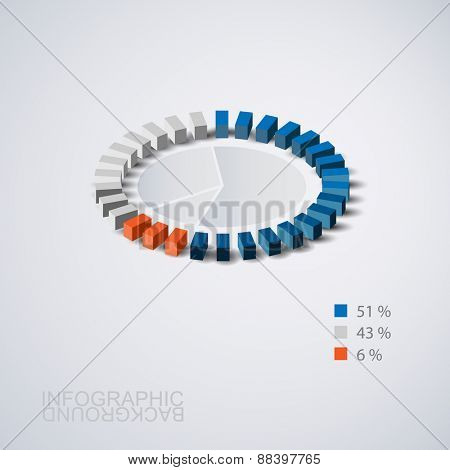 Abstract Pie Chart Graphic Design for Your Business, Infographics, Reports, Step Presentations