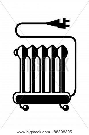 Oil Heater Vector Icon