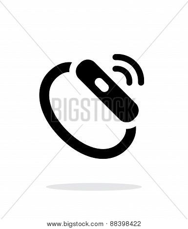 Smart watch signal simple icon on white background.