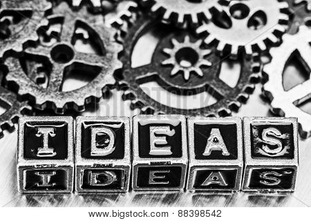 Ideas Word With Cog Wheels