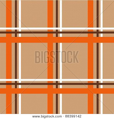 Checkered Tablecloth Seamless Pattern. Beautiful Vector Background, The Idea For Decor And Textiles