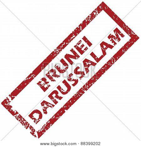 New Brunei Darussalam rubber stamp