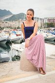 picture of boat  - Beautiful girl - JPG