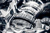 foto of muscle-car  - Car Engine closeup - JPG