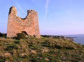image of saracen  - apulia coastline with anti saracen incursion watchtower defense - JPG