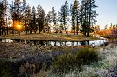 pic of klamath  - Sunset on Crooked Creek Northwest of Klamath Falls - JPG