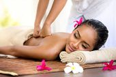 picture of thai massage  - Balinese massage in spa environment - JPG
