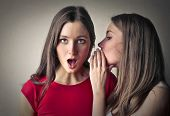 picture of sisters  - Sisters whispering secrets  - JPG