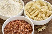 stock photo of ceramic bowl  - gluten free quinoa grain - JPG