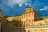stock photo of apostolic  - Apostolic Palace also called the Papal Palace or the Vatican Palace  - JPG
