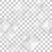 stock photo of pyramid shape  - Vector Abstract geometric shape from gray cubes - JPG