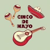 picture of guitar  - Cinco De Mayo background - JPG