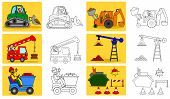 foto of machinery  - Coloring page for little kids about heavy industry - JPG
