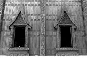 stock photo of chapels  - Two windows of chapel  - JPG