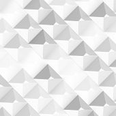 foto of pyramid shape  - Vector Abstract geometric shape from gray cubes - JPG