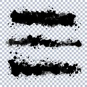 stock photo of edging  - Set of vector ink blots with transparent edges - JPG