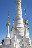 picture of southeast  - Part of a white pagoda at Indein Myanmar Burma Southeast Asia