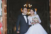 image of ceremonial clothing  - beautiful and happy moments of the wedding ceremony - JPG