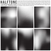 foto of structure  - Vector halphtone textures set - JPG