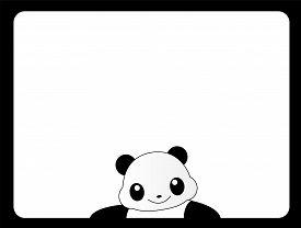 pic of panda  - Cute panda frame  - JPG