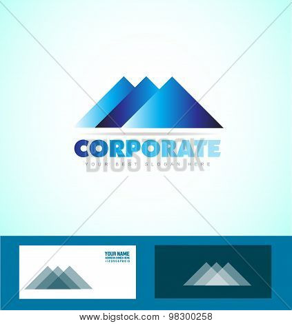 Corporate Business Triangle Logo Icon