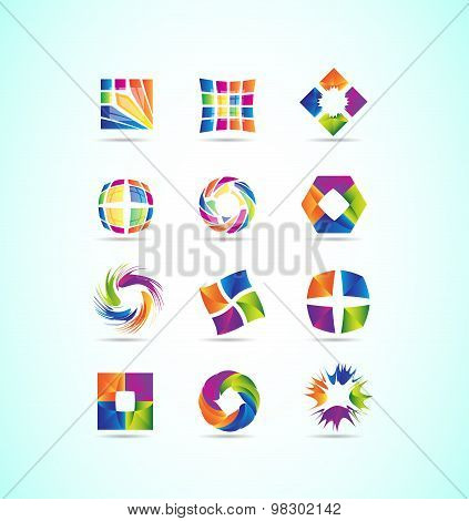 Logo Elements Icon Set Design