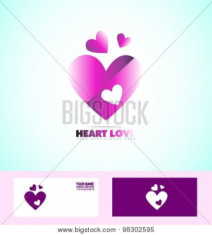 Love Heart Purple Logo