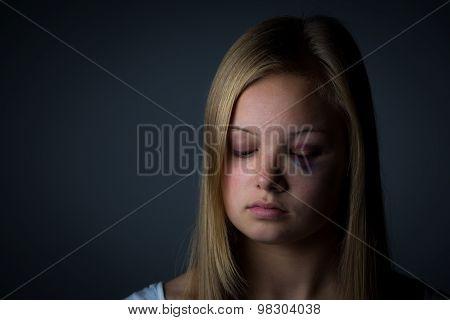 Young girl sad