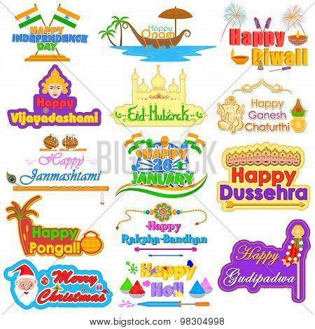 Holidays of India