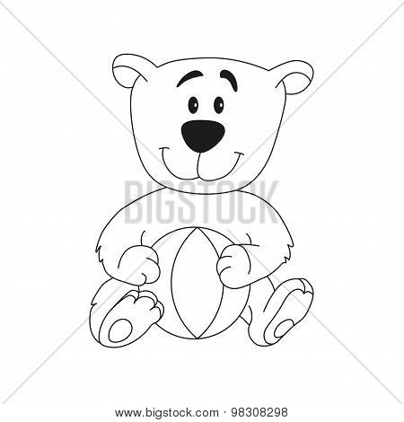 Cute Teddy Bear With Ball