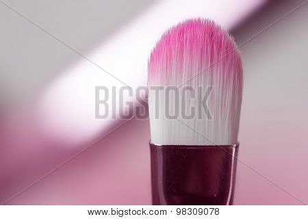 pink professional cosmetic brush