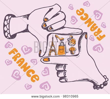 Conceptual illustration on the theme of France.