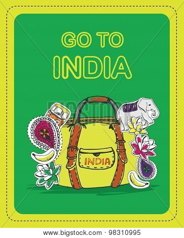 Poster for tourists on the theme of India