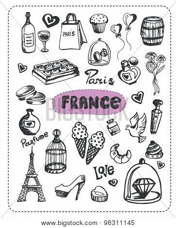 Doodle of France.