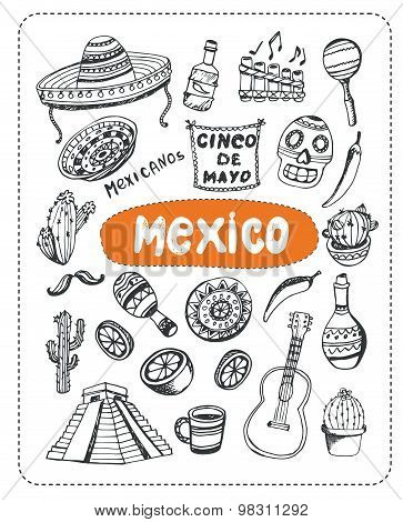 Doodle about Mexico.