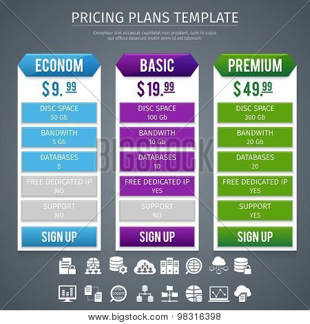 Software Pricing Plans Template