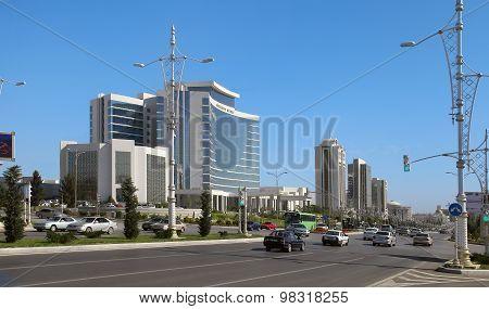Ashgabat, Turkmenistan - October 15, 2014: Modern Architecture Of Ashgabat. Ashkhabad. Turkmenistan