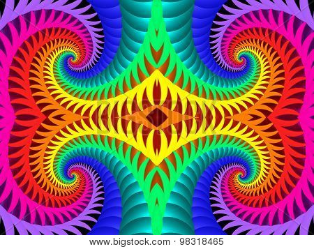 Multicolored Background With Spiral Pattern. Artwork For Creative Design,