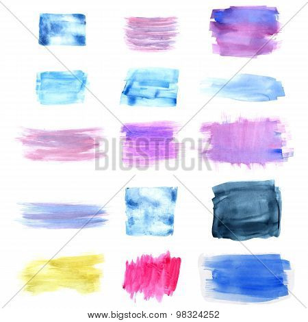 Designed abstract watercolor background.