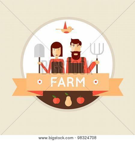 Farmer man and woman.