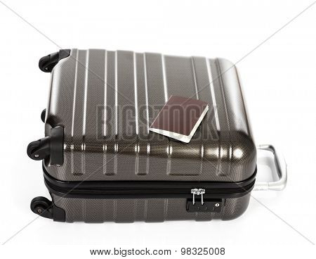 Passport on a suitcase