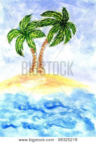 Beach And Sea Painting