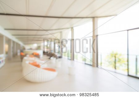 Abstract blur interior hotel lobby background
