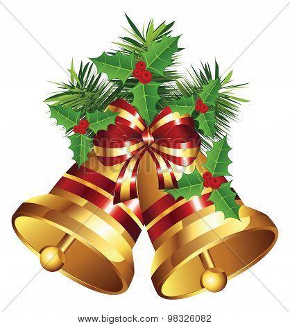 Golden Christmas Bell