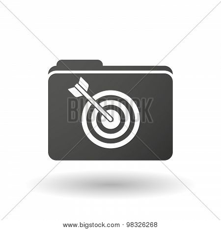 Isolated Folder Icon With A Dart Board