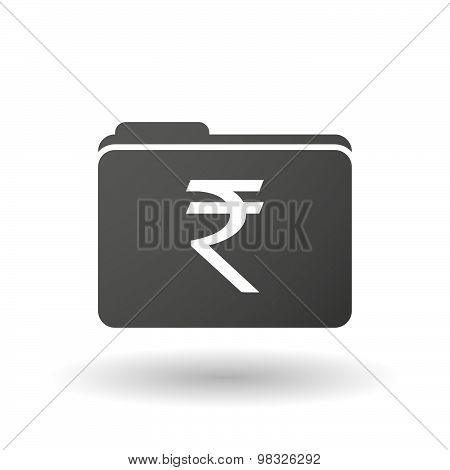 Isolated Folder Icon With A Rupee Sign