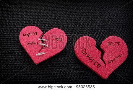 Two Split Hearts